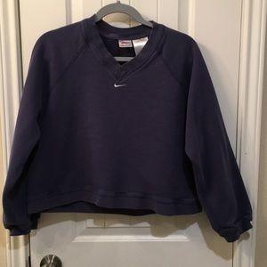 Nike crop top sweat shirt